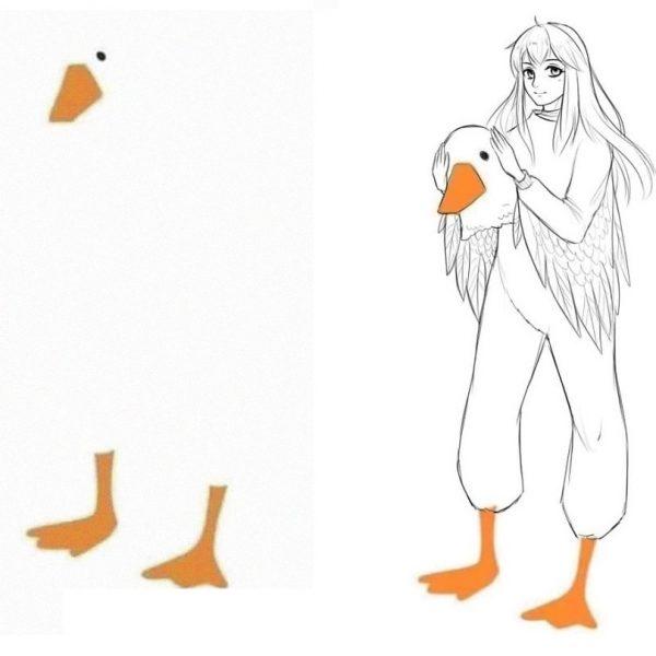 modelo de pato capa