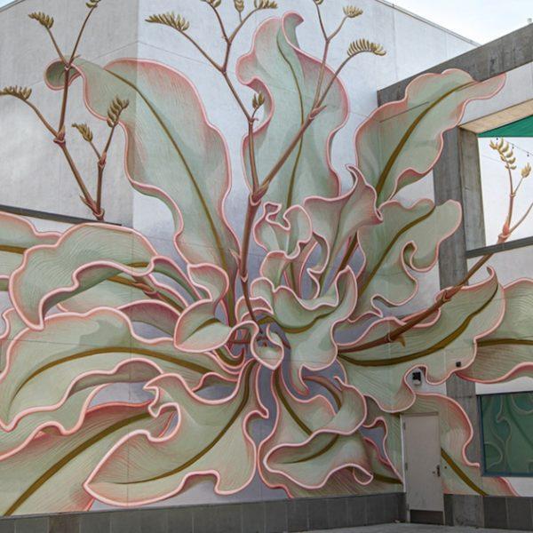 mural de flor capa