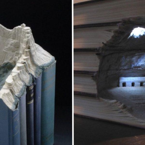 paisagens em livros capa