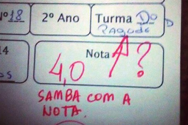 samba com a nota