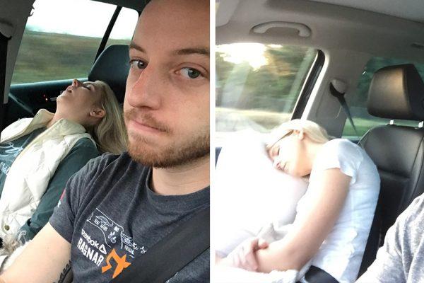 soneca no carro capa