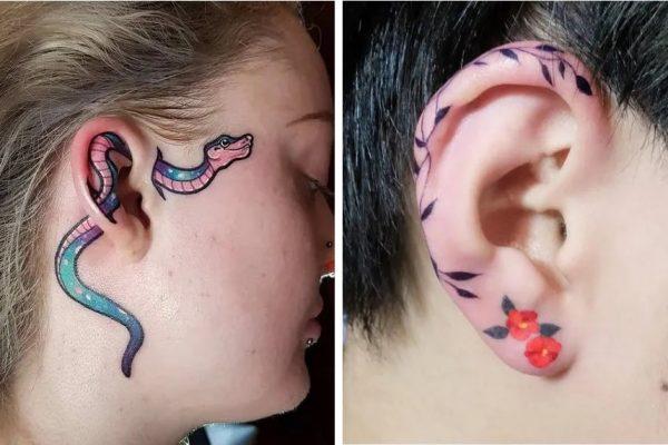 tatto na orelha capa