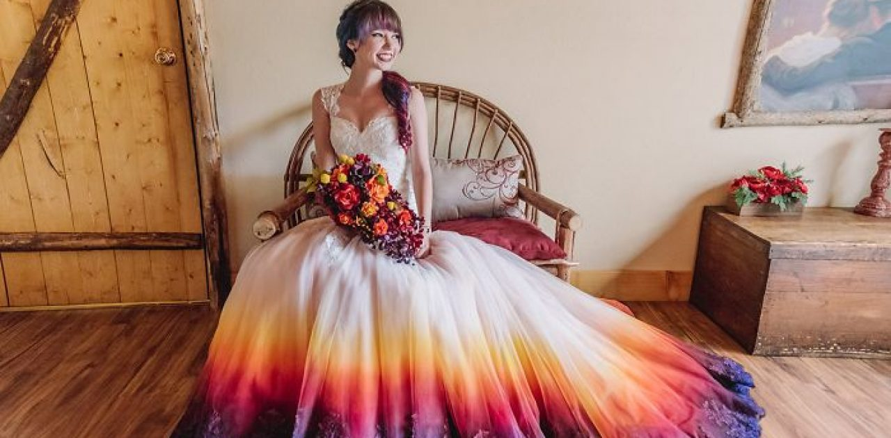 vestido colorido capa